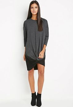 Contemporary Twisted-Front Sweatshirt Dress | Forever 21 - 2000157724