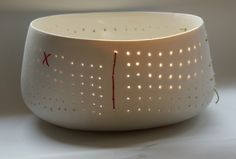 Este Macleod stitched porcelain bowl