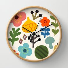 Spring Wall Clock by goolygooly - $30.00