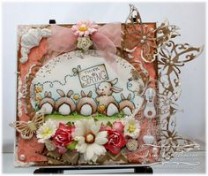 Whimsy Stamps card by Iris Wiechmann using Crissy Armstrongs  'Think Spring Bunnies',