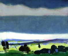 """Arthur B. Carles, """"Landscape, stormy sky"""" vers 1912, huie sur toile"""
