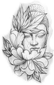 """Résultat de recherche d'images pour """"dessin bouddha tattoo"""""""