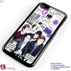 5sos Luke Hemmings Michael Cliford Calum Hood Ashton Irwin - Personalized iPhone 7 Case, iPhone 6/6S Plus, 5 5S SE, 7S Plus, Samsung Galaxy S5 S6 S7 S8 Case, and Other
