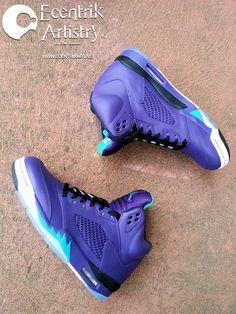 """Air Jordan 5 """"Extra Grape"""" Custom"""