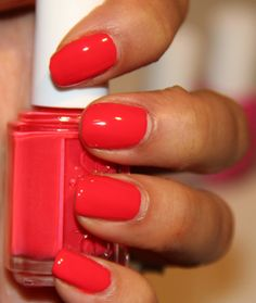"New Essie spring color ""Ole Caliente"". will look so good with a tan!"