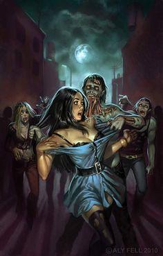 Sexy Zombie Art | Zombie Terrors | Desperate Zombie