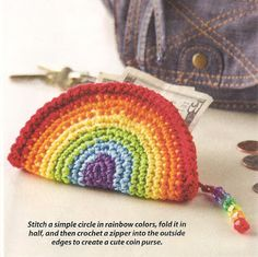 Crochet coin purse. Pattern in April 2013 Crochet World magazine.