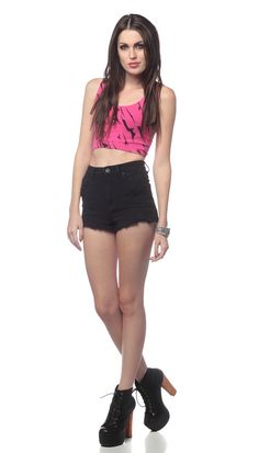 90s CROP TOP Hot Pink New Wave Abstract Stretchy Cropped Shirt 80s Sexy 1990s Vintage Exercise Tank Midriff Belly Sleeveless Extra Small XS. $29.00, via Etsy.