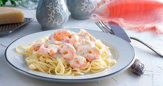 Les pâtes aux crevettes et à la sauce Alfredo, au parmesan et à la crème fraîche, délicieuses et addictives !