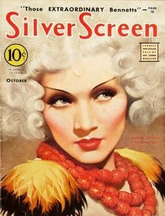 Marlene Dietrich on the cover of Silver Screen...