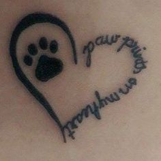 Paw print tattoo designs are very common among animal lovers and makes a symbolic gesture. So Let choose best print tattoos from shown designs. Neue Tattoos, Dog Tattoos, Animal Tattoos, Body Art Tattoos, Tatoos, Tattoo Cat, Cat Paw Print Tattoo, Bird Tattoos, Butterfly Tattoos