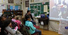 WESTFIELD, NJ – On a recent Friday, a fifth-grade class at McKinley Elementary School shares questions, predictions and observations about a novel they are reading with another fifth-grade class. Fifth Grade, Read Aloud, Elementary Schools, Novels, Take That, This Or That Questions, Education, Learning, Board