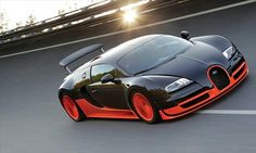 Bugatti Veyron - a super sports car that can hit up to a whopping 1,183 horsepower while reaching a top speed of 268 horsepower. The price tag is well into 7 digits.