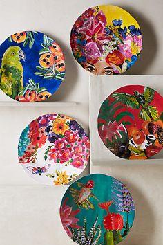 Tropical Opulence Housewares - The Under Sun Melamine Dinner Plate Set by Ashley Longshore is Vivid (GALLERY)