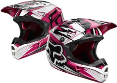 Fox racing helmet Used to have this Dirt Bike Gear, Motocross Helmets, Racing Helmets, Dirt Biking, Fox Racing, Fox Rider, Moto Cross, Pink Fox, Four Wheelers