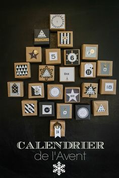 Create an advent calendar by decorating and arranging little boxes. Under each lid is a daily surprise.