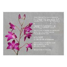 Dendrobium Orchid Wedding Invitations Personalized Invite