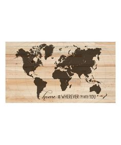 Navy world map wall art canvas world map print in navy blue and navy blue world map art print featuring the quote adventure awaits gumiabroncs Image collections