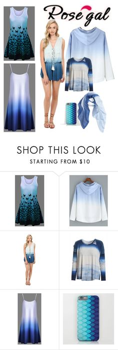 """""""Blue ombre"""" by sophie01234 ❤ liked on Polyvore featuring Young, Fabulous & Broke and Caslon"""