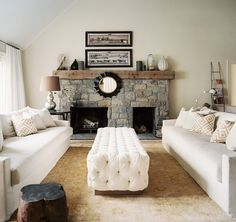 Here It Is- The Ugliest Stone Fireplace You've Ever Seen! - laurel home