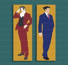 Bookmark - Ace Attorney - Phoenix Wright or Miles Edgeworth - CHOOSE DESIGN