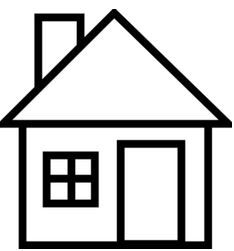 Free from Coloring.ws. Simple outline shapes (geometric ...   House Paper Outline