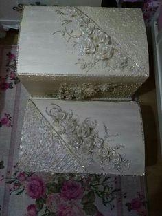 Envelope Box, Keepsake Boxes, Shabby Chic, Decorative Trunks, Craft Storage, Crate Decor, Crates, Sparkle Wedding, Manualidades