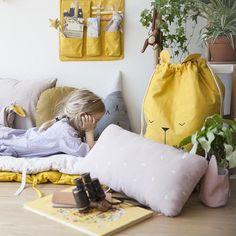 Rabbit Organic Cotton Cushion 30x50cm - Fabelab