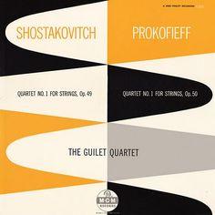 Shostakovitch / Prokofieff String Quartet #1  The Guilet Quartet  #albumcover #classicalmusic
