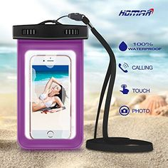 Homar Universal Waterproof  Dirtproof  Dustproof Smart Phone Dry Bag  EcoFriendly Construction Water Sports Equipment for Camping Kayaking Hiking Boating Swimming Surfing Fishing Purple *** Click on the image for additional details.