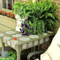 Summer deck projects using Royal Design Studio stencils and more