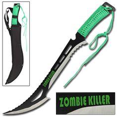 Renegade Zombie Killer Knife - NEW Razor Sharp Full Tang Stainless Steel Saw Back Zombie Killer. #Knives