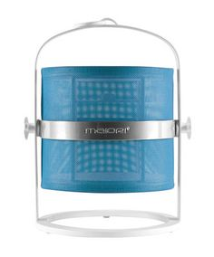 La Lampe Petite LED Solar lamp - Solar - White structure Structure : White - Diffuser : Turquoise by Maiori - Design furniture and decoration with Made in Design