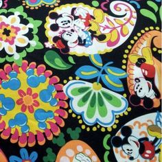MIDNIGHT WITH MICKEY 18x18 inches or 1 yard  by PinkAnchorShop