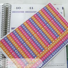 Hearts Checklist Flags-Orange-Pink-Purple Set by PrettylilPlanners