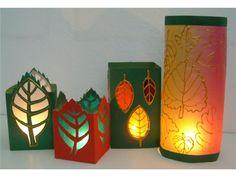 Žijeme naplno Fall Paper Crafts, Autumn Crafts, Nature Crafts, Arts And Crafts, Diy Crafts, Waldorf Crafts, Candle Lamp, Paper Lanterns, Fall Halloween
