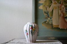 Vintage Arabia Finland Floral Vase