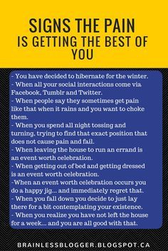 Brainless Blogger: Signs the pain is getting the best of you - Hahaa! Definitely!