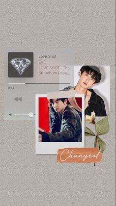 Foto Chanyeol Exo, Kai Exo, Chanyeol Cute, Baekhyun, Aesthetic Pastel Wallpaper, Aesthetic Wallpapers, Exo For Life, Polaroid Frame, Exo Lockscreen