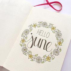 It is time! I've started setting up for June 😊 #hellojune #bulletjournal #bujo…