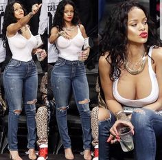 Fashion Beauty, Girl Fashion, Womens Fashion, Rihanna Thick, Divas, Rihanna Style, Rihanna Fenty, Fashion Updates, Mom Jeans