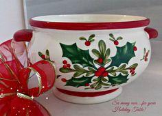 Teleflora Ceramic Christmas Holly Berries by EauPleineVintage