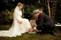 ©David Blair / French wedding / La mariée aux pieds nus