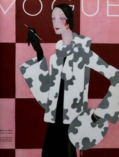 1930 Fashion - Art Deco Vogue cover ~ LÁMINAS VINTAGE,ANTIGUAS,RETRO Y POR EL ESTILO.... (pág. 805) | Aprender manualidades es facilisimo.com