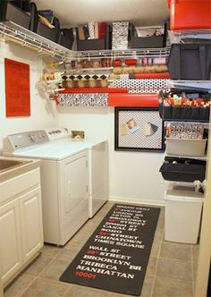 11 Creative and Clever Laundry Storage Ideas for Small Spaces I could do maybe one shelf at top, if that. sadly my laundry room has a very low ceiling ~sch - Home Decorating Inspiration Laundry Craft Rooms, Laundry Room Organization, Laundry Room Storage, Laundry Room Design, Storage Room, Laundry Closet, Craft Organization, Bathroom Storage, Mud Rooms