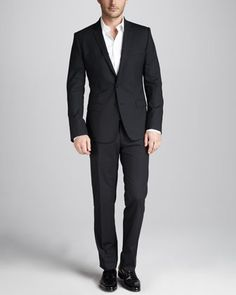Dolce & Gabbana Martini Stretch-Wool Suit, Black - Neiman Marcus