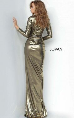 Metallic Prom Dresses, Metallic Dress, Satin Dresses, Sexy Dresses, Fashion Dresses, Metallic Fashion, Metallic Gold, Prom Dresses Jovani, Gala Dresses