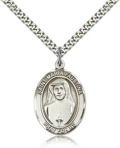 Sterling Silver Catholic Saint Catherine of Alexandria Medal, 1 Inch Saint Catherine Of Alexandria, Catholic Jewelry, Irish Jewelry, Patron Saints, Catholic Saints, Irish Catholic, Religious Gifts, Chains For Men, Sterling Silver Necklaces