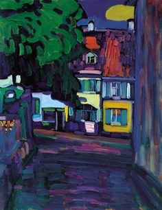 Wassily Kandinsky - Houses in Murnau on Obermarkt, 1908
