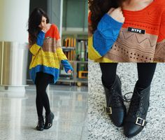 Knitted and colors.